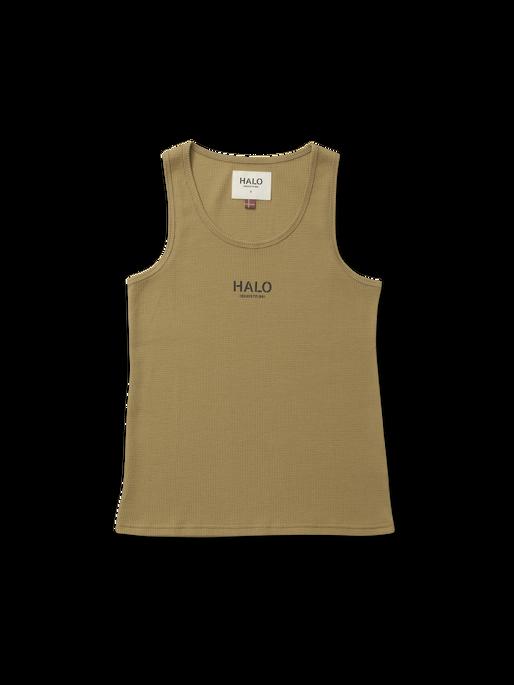 HALO WOMENS WAFFLE TANK, KELP, packshot
