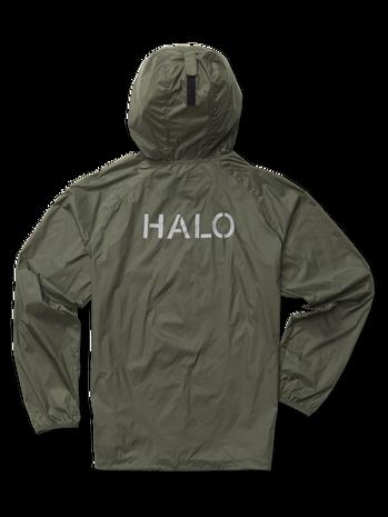 HALO PACKABLE JACKET, OIL GREEN, packshot