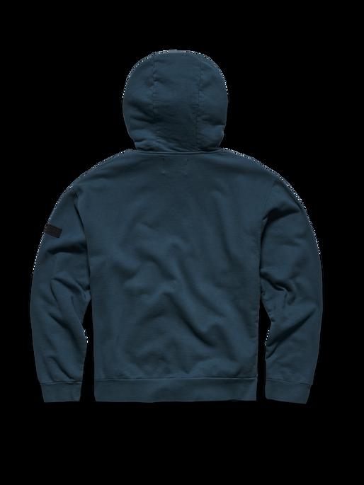 HALO COTTON HOODIE, WHITE/DRESS BLUE, packshot