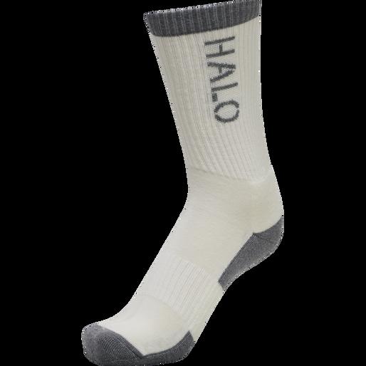 HALO WOOL SOCKS, BONE WHITE, packshot