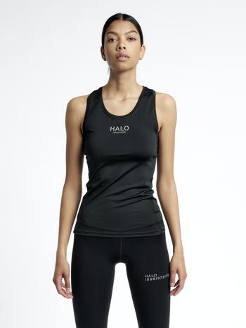 HALO WOMENS RACERBACK TANK, BLACK, model