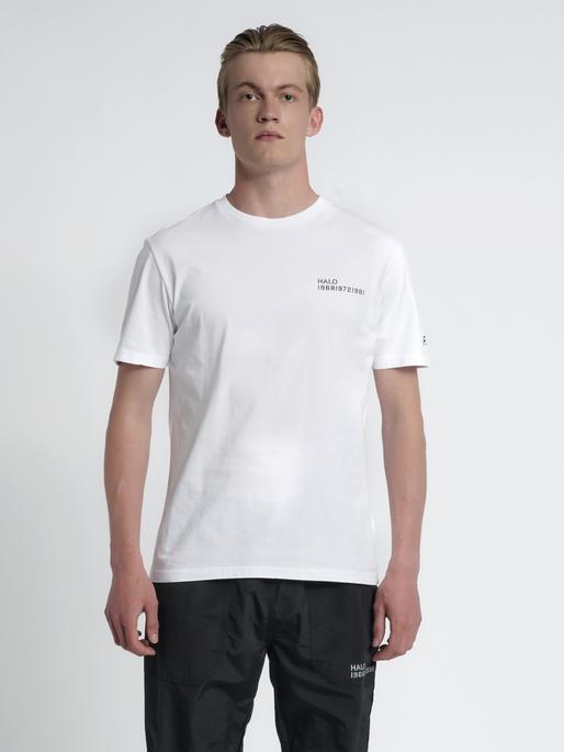 HALO COTTON TEE, OPTIC WHITE, model