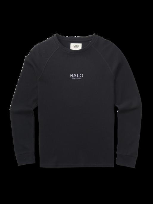 HALO WAFFLE LONGSLEEVE, BLACK, packshot