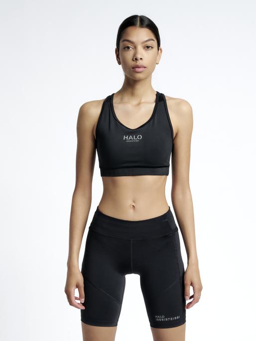 HALO WOMENS BRATOP, BLACK, model